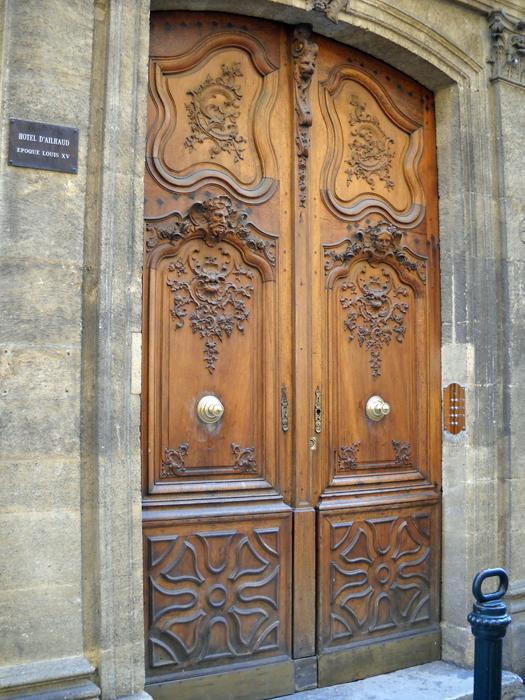 beautiful wooden doorway aix en provence 2010