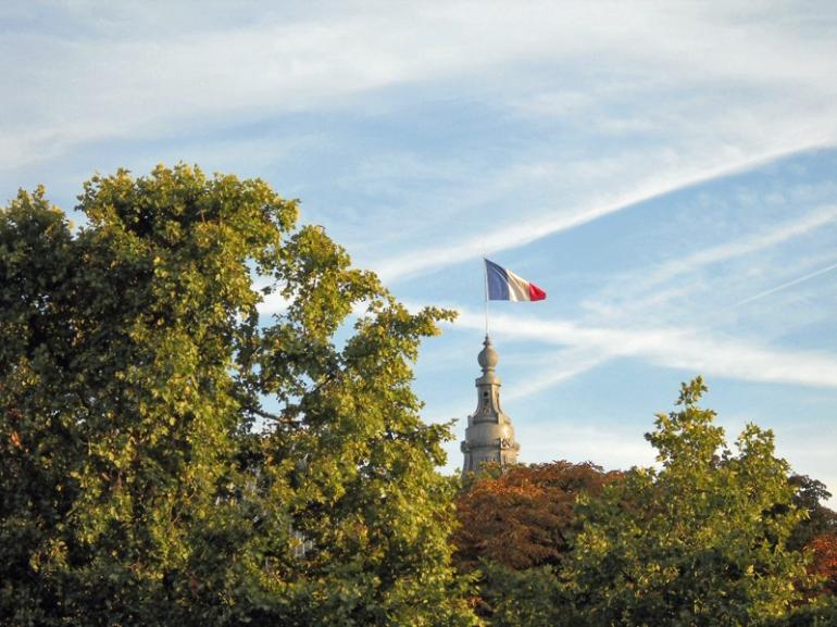 flag of france musee de l'orangerie