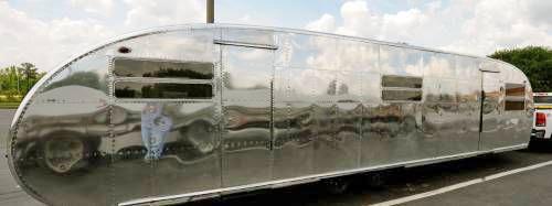 shiny aero camper