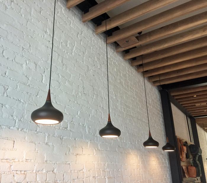 pendants in a row