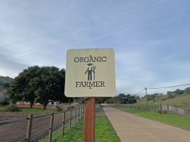 organic farmer sign folded hills